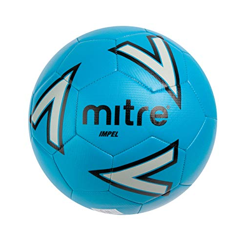 Mitre Impel Training Football Without Ball Pump, Blue, Size 4 from Mitre