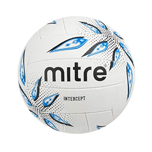 Mitre Intercept Training Netball, Multi-Colour, Size 4 from Mitre