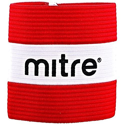 Mitre Men's Captain Arm Band, Red (Scarlet/White), Large from Mitre
