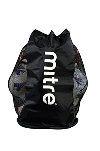 Mitre Mesh Ball Sack - 12 Balls, Black from Mitre