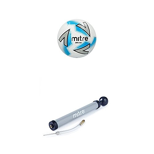 Mitre Impel Plus Training Football, White, With Ball Pump, Size 3 from Mitre