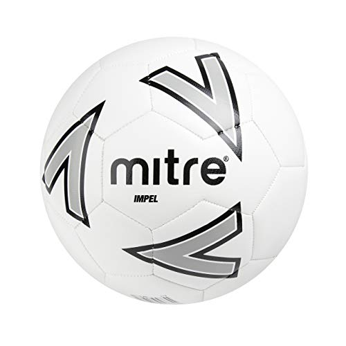 Mitre Impel Plus Training Football, White, Without Ball Pump, Size 4 from Mitre