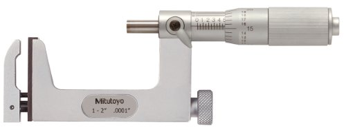"Mitutoyo 117-108 Interchangeable Anvil Micrometre, Range 1""-2"" from Mitutoyo"