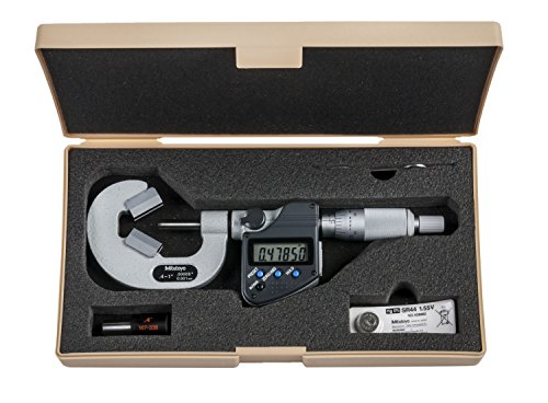 "Mitutoyo 314-352-30 VM3-1""MX V-Anvil Micrometer with Relief, 3 Flute, 0.4""-1"", 0.00005""/0.001 mm from Mitutoyo"