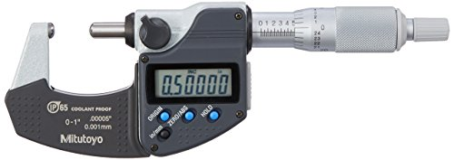 "Mitutoyo 395-371-30 BMD-1""MX Micrometer, IP65, Spherical Face, 0""-1"", 0.00005""/0.001 mm from Mitutoyo"