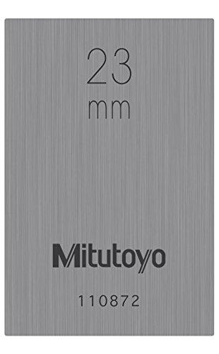 Mitutoyo 611633-131 Gauge Block, Individual Metric, Rectangular, ASME Grade 1, Steel, 23.0 mm Nominal Size from Mitutoyo