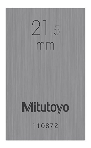 Mitutoyo 611661-131 Gauge Block, Individual Metric, Rectangular, ASME Grade 1, Steel, 21.5 mm Nominal Size from Mitutoyo
