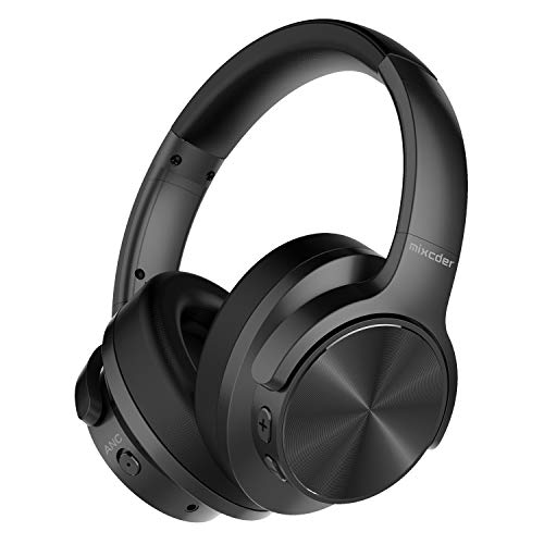 Mixcder E9 Wireless Active Noise Cancelling Headphones Foldable Headset (Dual 40mm Drivers, Bluetooth CSR, Comfortable Protein Earpads, 30 Hours Battery Life), Black from Mixcder