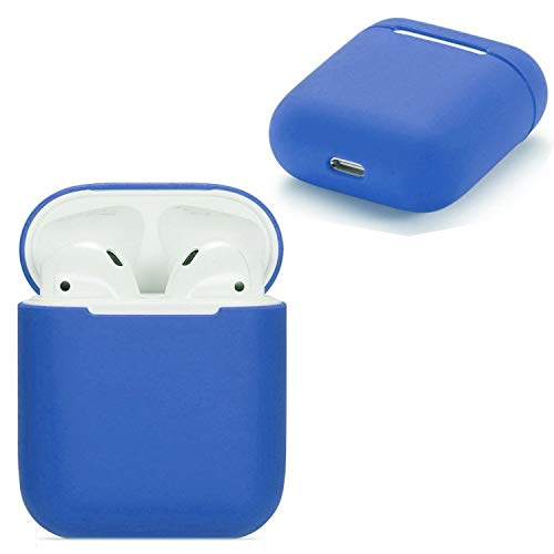 AirPods Case, AirPods Silicone Protective Case, Wireless Earphone AirPods Case, [Extra Protection] [Slim and Lightweight] - for Apple AirPods Charging Case (Midnight Blue) from Mobile Stuff