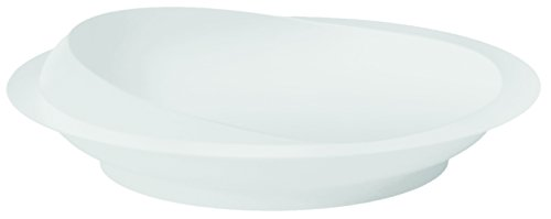 Mobility Choices White Scoop Plate with Non-slip Suction Base from Mobility Choices