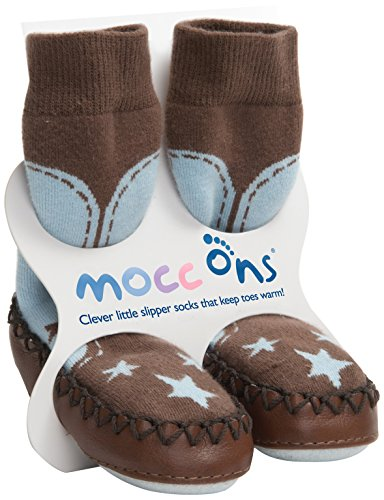 Mocc Ons Cute Moccasin Style Slipper Socks, Cowboy - 12-18 Months from Mocc Ons