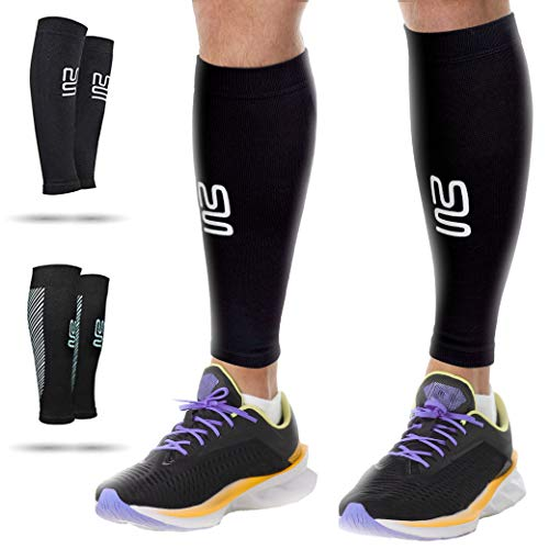 "Calf Leg Compression Sleeves by Modetro Sports -Shin Splints, Circulation & Leg Cramp Compression Support Sleeve - Running, Jogging, Cycling, Fitness & Exercise Enhanced Performance - Men & Women () (Medium / 12.5""-15"") from Modetro Sports"