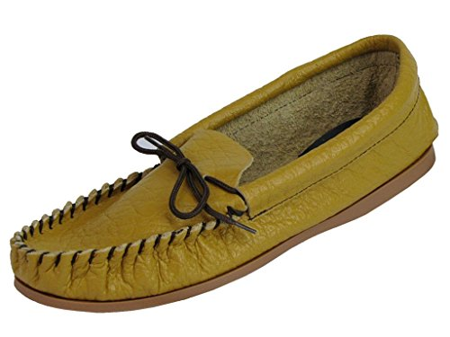 Mens Tan Leather Moccasin Slipper - Gordon - Tan - size UK Mens Size 13 from Mokkers