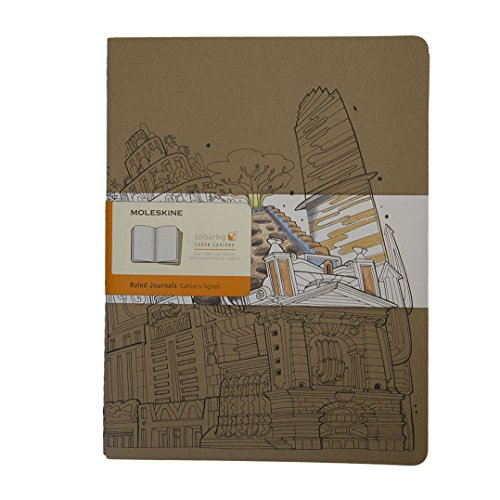 Moleskine Colouring Cover Cahier Notebook Kraft Brown Extra Large Ruled: The Wandering City 2016 from Moleskine