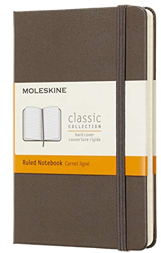 Moleskine - Classic Notebook with Scratched Pages, Hardcover and Elastic Rubber, Brown Earth Color, Small Size 9 x 14 cm, 192 Pages from Moleskine