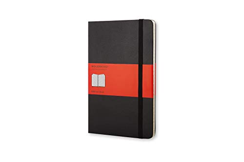 Moleskine 13 x 21 cm Large Address Book, Alphabetical Tabs for the Office Hard Cover, Colour Black, 240 Pages from Moleskine