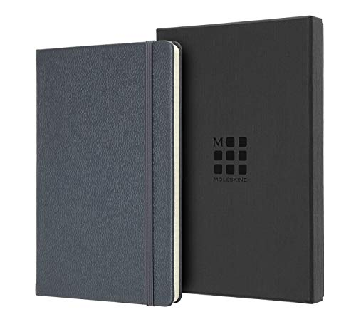 Moleskine - Classic Ruled Paper Notebook - Hard Cover and Elastic Closure Journal - Color Avio Blue - Size Large 13 x 21 A5 - 240 Pages from Moleskine