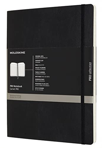 Moleskine PROPFNTB4SBK X-Large Pro Soft Notebook from Moleskine