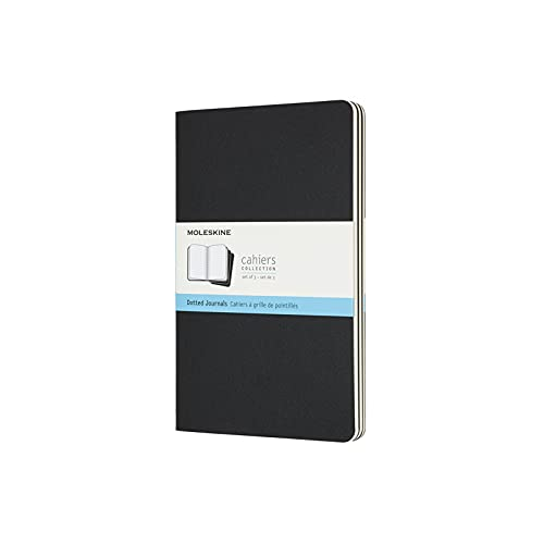 Moleskine Dotted Cahier Journals Black Large (CAHIERS) from Moleskine