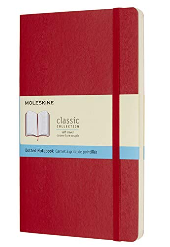 Moleskine Classic Dotted Paper Notebook - Soft Cover and Elastic Closure Journal - Color Scarlet Red - Large 13 x 21 A5 - 192 Pages from Moleskine