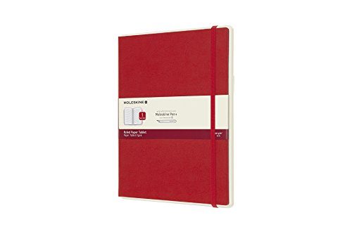 Moleskine, Notebook Paper Tablet, Digital Notebook with Ruled Pages and Hard Cover - Notebook Suitable to Use with Pen Moleskine +, Red Color - Extra Large Size 19 x 25 cm from Moleskine