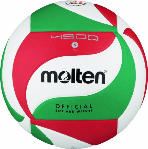 Molten Volleyball - 5, White/Green/Red from Molten