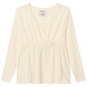 Mom2Mom Cream Long Sleeve Glow Top S from Mom2Mom