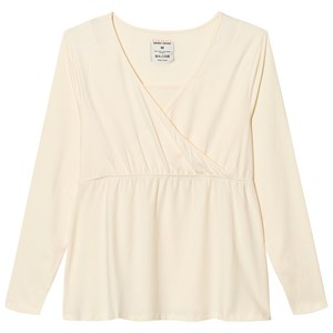 Mom2Mom Cream Long Sleeve Glow Top XS from Mom2Mom