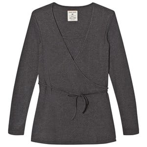 Mom2Mom Grey Melange Wrap Top S from Mom2Mom