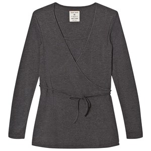 Mom2Mom Grey Melange Wrap Top XS from Mom2Mom