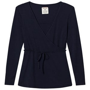 Mom2Mom Navy Wrap Top L from Mom2Mom