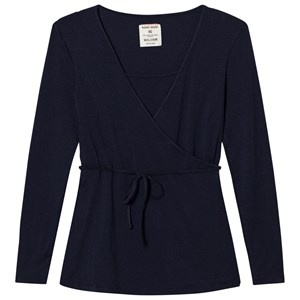 Mom2Mom Navy Wrap Top M from Mom2Mom