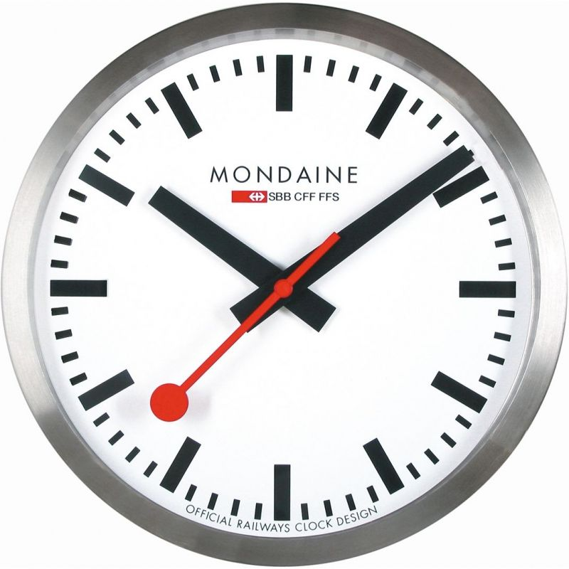Mondaine Swiss Railways Wall Clock from Mondaine