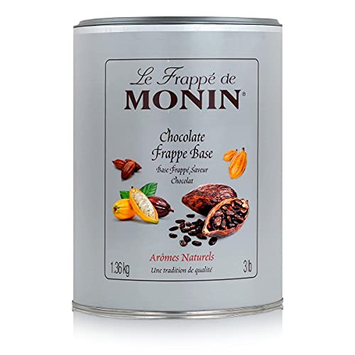 Monin Chocolate Frappe Mix 1.36kg Tub - Flavoured Coffee Powder for Coffee Shops from Monin