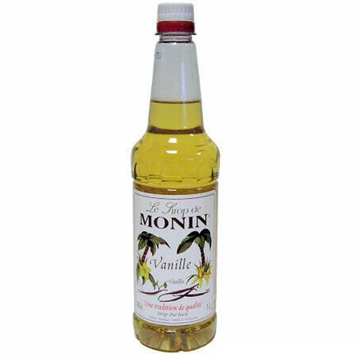 Monin Vanilla Syrup 1Ltr and Pump