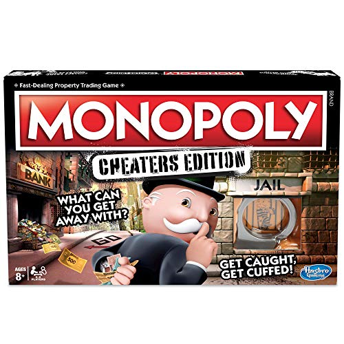 Monopoly Game Cheaters Edition Board Game Ages 8 and Up from Monopoly
