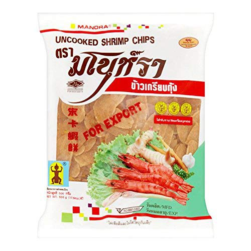 Manora Uncooked Shrimp Chips, 500 g from Manora