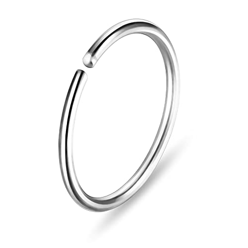 20 Gauge ( 0.8MM ) - 8MM Diameter 316L Surgical Steel Seamless Continuous Hoop Nose Ring Piercing from Monster Piercing