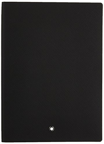 Montblanc Notebook 113294 Fine Stationery #146 Black / Elegant Soft Cover Journal / Lined Notebook with Leather Binding / A5 from Montblanc