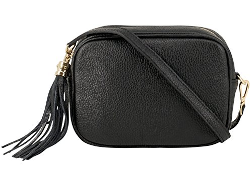 96c6a8d735 Montte Di Jinne - 100% Made in Italy - Soft Leather Leather Women s Cross  Body