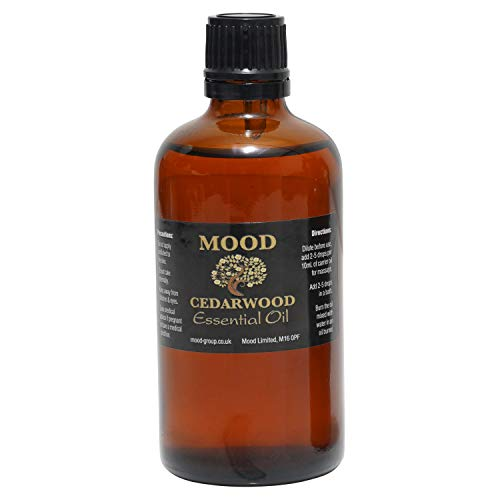 Essential Oils 100ml Pure & Natural Aromatherapy - Choose Fragrance Below (Cedarwood) from Mood Essential Oils
