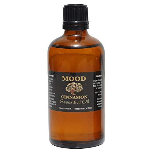 Essential Oils 100ml Pure & Natural Aromatherapy - Choose Fragrance Below (Cinnamon) from Mood Essential Oils