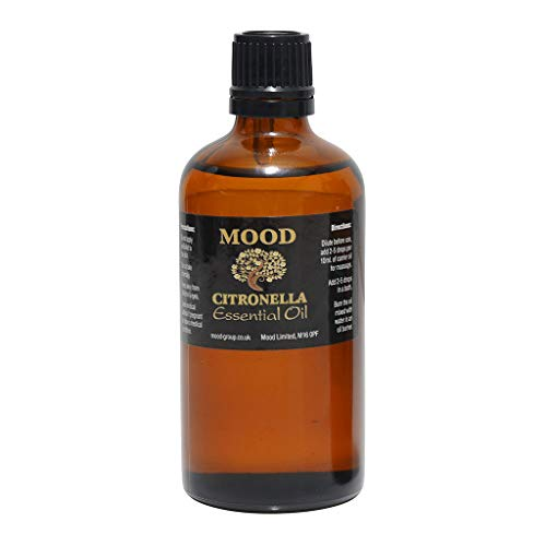 Essential Oils 100ml Pure & Natural Aromatherapy - Choose Fragrance Below (Citronella) from Mood Essential Oils