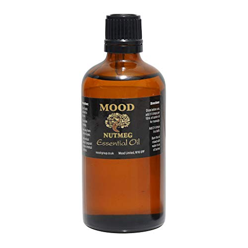Essential Oils 100ml Pure & Natural Aromatherapy - Choose Fragrance Below (Nutmeg) from Mood Essential Oils