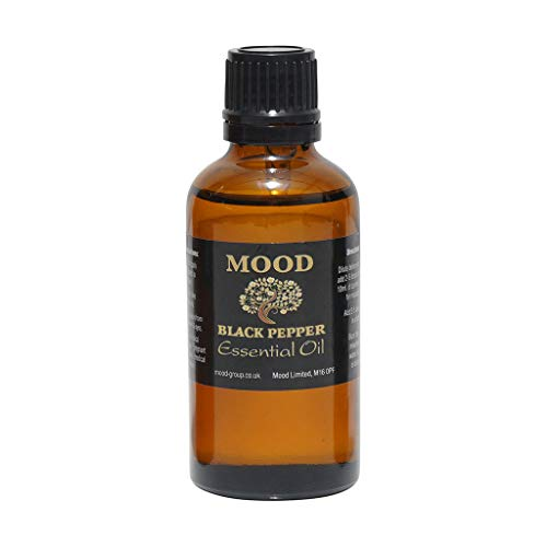 Essential Oils 50ml Pure & Natural Aromatherapy - Choose Fragrance Below (Black Pepper) from Mood Essential Oils
