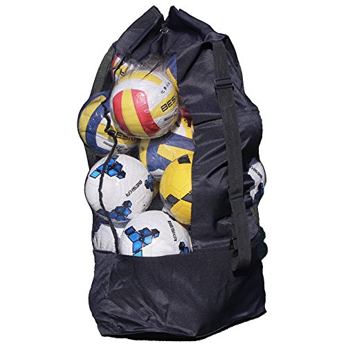 Moonlove 15-20 Ball Net Bag Multiple Ball Pocket Football Basketball Storage Bag Volleyball Soccer Mesh Carry Bag With Strap from Moonlove