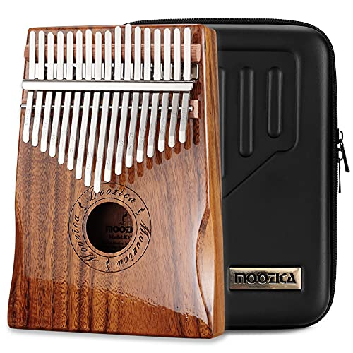 Moozica 17 Key Kalimba, High Quality Professional Finger Thumb Piano Marimba Musical Gift (Acacia Koa-K17K) from Moozica