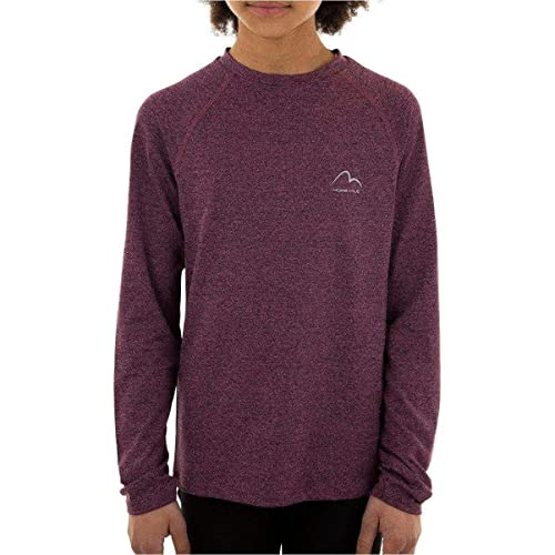 More Mile Train To Run Girls Long Sleeve Running Top - Purple -13-14 Years from More Mile