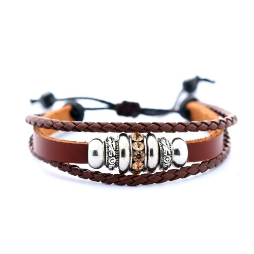 Morella women's bracelet in leather in a variety of styles // various models available -  Brown - One size from Morella