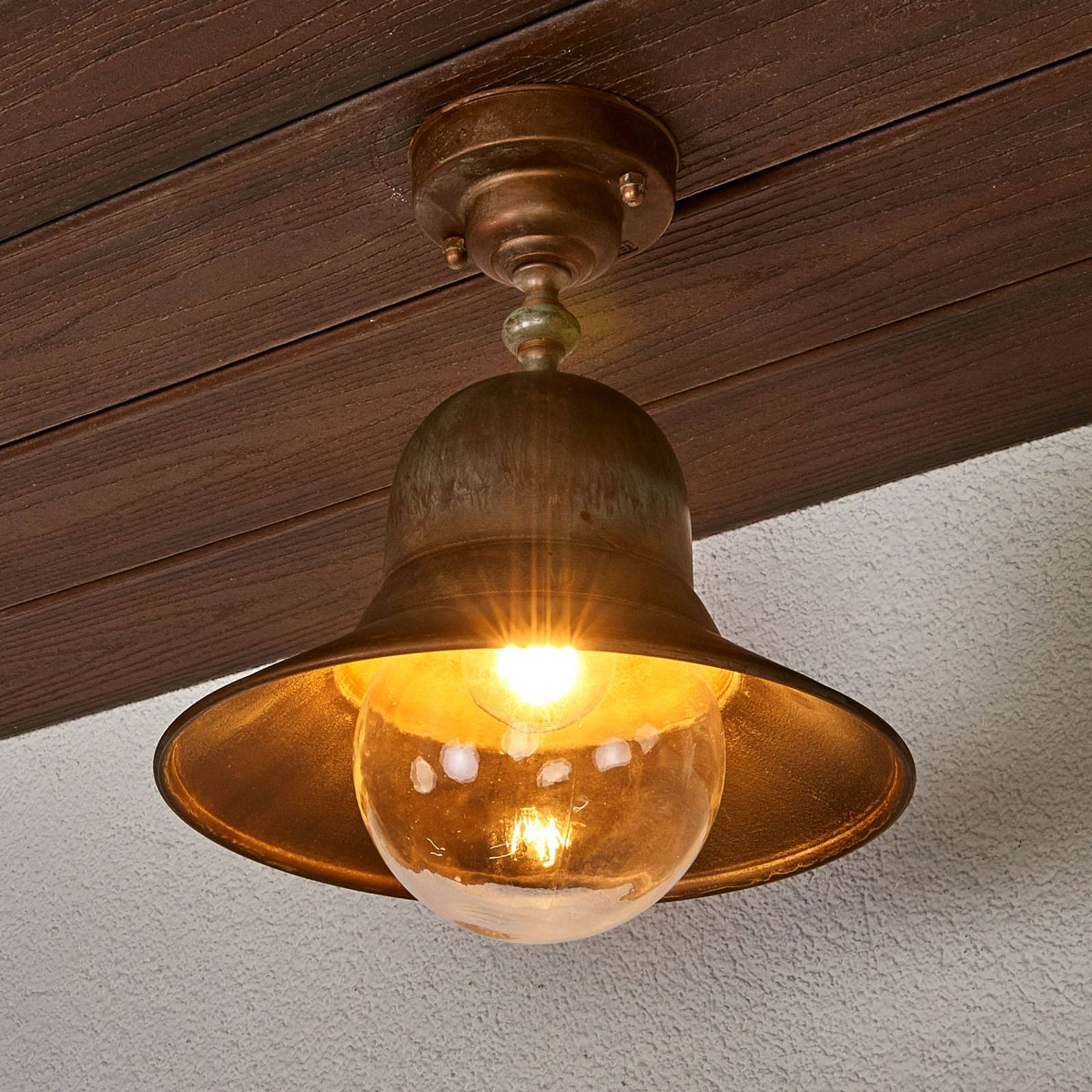 Brass ceiling light Marquesa for outdoors from Moretti